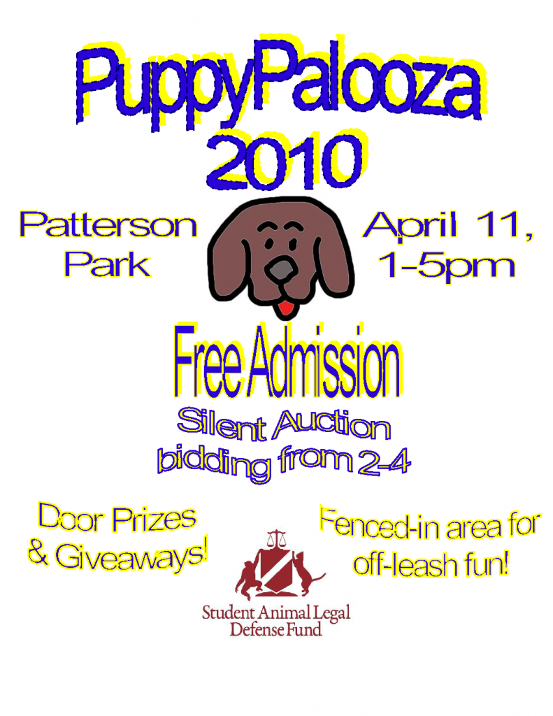Flier for Puppy Palooza