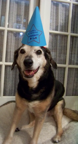 Grandbury in his party hat