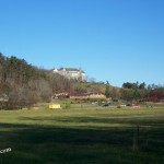 biltmore inn and antler village as seen from the bike trails